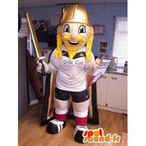 Mascot sportieve Viking - Aanpasbare maten - MASFR004797 - sporten mascotte