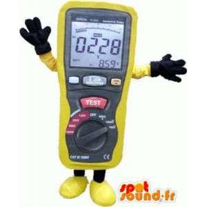 Mascot amperemeter gul, veldig realistisk - MASFR004801 - Maskoter gjenstander