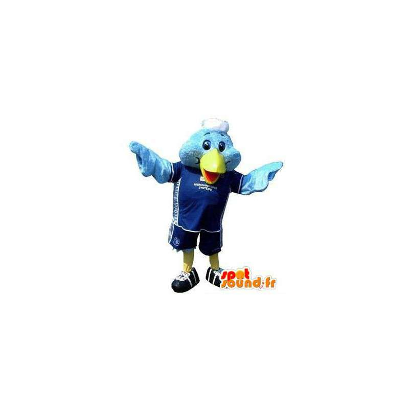 Mascotte d'oiseau bleu en tenue de sport - MASFR004821 - Mascotte d'oiseaux
