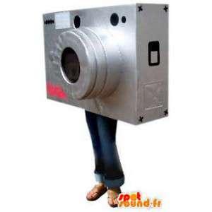 灰色のカメラのマスコット。カメラコスチューム-MASFR004834-ファストフードマスコット