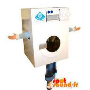 Maskin formet maskot vaske hvite kjempe - MASFR004842 - Maskoter gjenstander