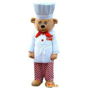 Maskotti kokki-karhu. Puku-kokki - MASFR004859 - Bear Mascot