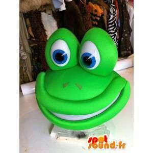 Green frog mascot giant size - MASFR004884 - Mascots frog