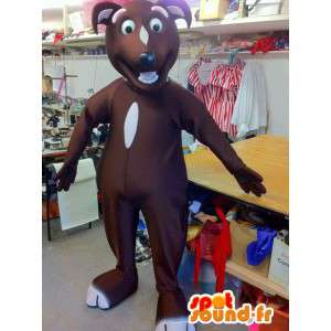 Brown dog mascot, type tekel - MASFR004887 - Dog mascots