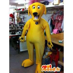 Kaikki keltainen koira maskotti. Yellow Dog Costume - MASFR004888 - koira Maskotteja