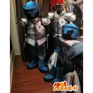 Mascotte d'armure de chevalier. Costume d'armure