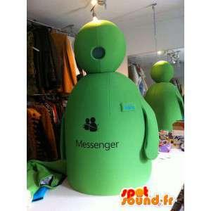 Mascot mies MSN Messenger, vihreä - MASFR004905 - Mascottes Homme
