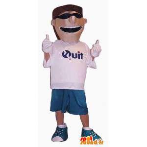 Mascot man in korte broek met een zonnebril - MASFR004406 - man Mascottes