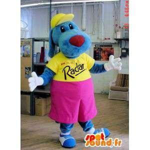 Fashion blue dog mascot. Blue dog costume - MASFR004448 - Dog mascots