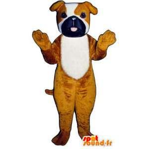 Tricolor hundemaskot. Hundedragt - Spotsound maskot