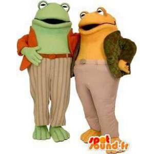 Maskotteja sammakot, keltainen ja vihreä - MASFR004475 - sammakko Mascot