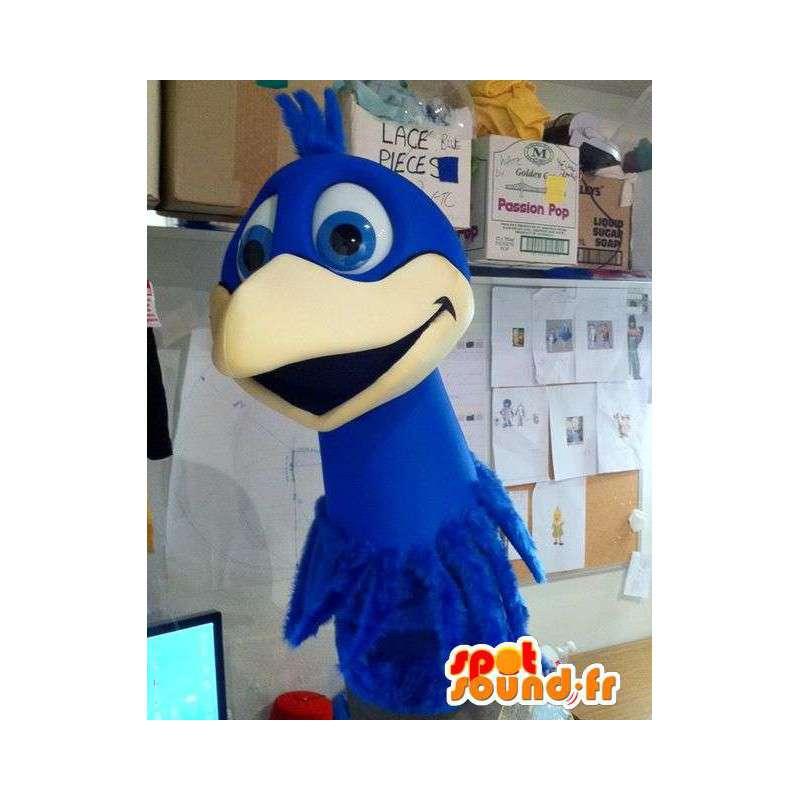 Giant bird blue mascot. Bird costume - MASFR004907 - Mascot of birds