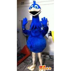 Mascotte d'oiseau géant bleu. Costume d'oiseau - MASFR004907 - Mascotte d'oiseaux