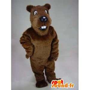 Ruskea majava maskotti muhkeat. Beaver Costume - MASFR004908 - Mascottes de castor