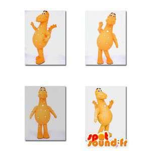 Mascot Orange Dinosaurier.Dinosaurier-Kostüm - MASFR004911 - Maskottchen-Dinosaurier