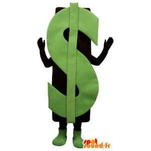 Mascote que representa o sinal do dólar