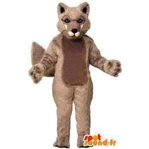 Lobo traje - la mascota del lobo de felpa