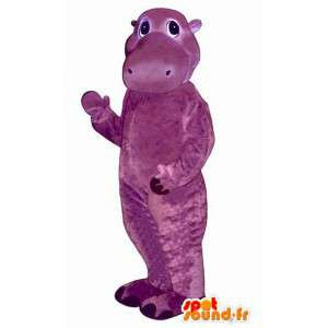 Purple hippo costume representing a