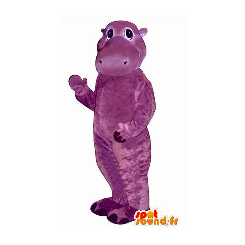 Purple hippo costume representing a - MASFR004937 - Mascots hippopotamus