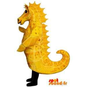 Amarelo Costume do cavalo marinho - traje cavalo-marinho amarelo - MASFR004938 - Mascotes do oceano