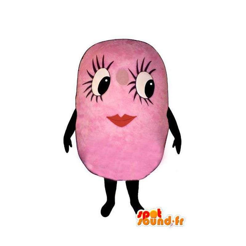 Costume de Chewing-gum rose déjà mâché-Déguisement de chewing-gum - MASFR004948 - Mascottes Fast-Food