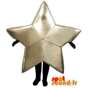 Mascotte die een vijfpuntige ster
