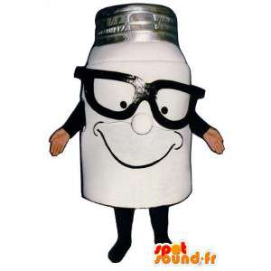 Skjule en melkeflaske - flaske dress - MASFR004954 - Maskoter Flasker