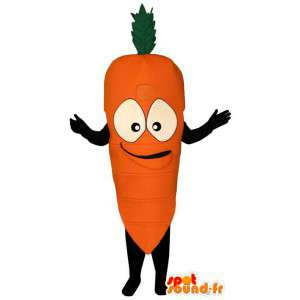 Costume representing a carrot-carrot costume
