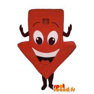 Mascot vertegenwoordigen lage rode pijl - arrow Costume - MASFR004957 - Niet-ingedeelde Mascottes
