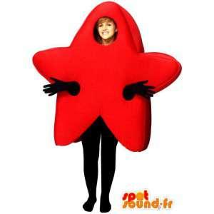 Mascot wat neerkomt op een rode vijfpuntige ster