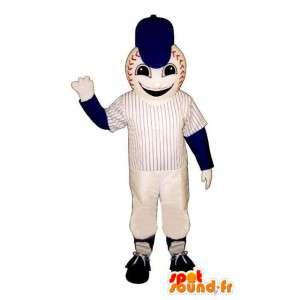 野球のマスコット - 野球スーツ