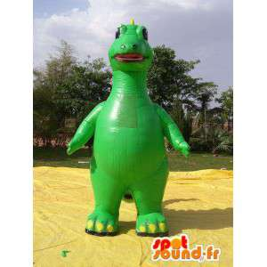 Giant inflatable green dragon mascot