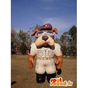 Sherif Maskottchen Hund aufblasbaren Ballon - MASFR004982 - Hund-Maskottchen