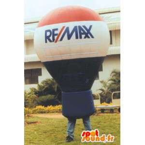 Bulb in inflatable balloon - customizable Costume mascot - MASFR004983 - Mascots bulb