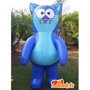 Cat in giant inflatable mascot