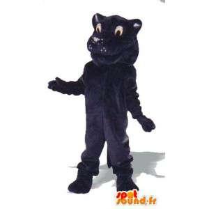 Lion mezzanotte mascotte blu peluche - leone costume