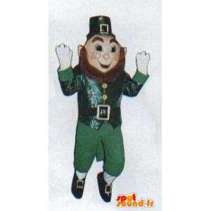 Chinese mascotte met baard en groene pak - MASFR005010 - Niet-ingedeelde Mascottes