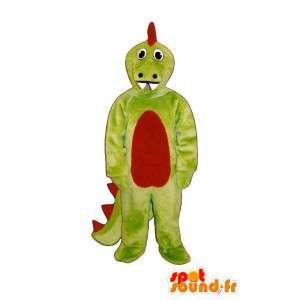 Mascotte de dragon vert rouge - Déguisement de draagon