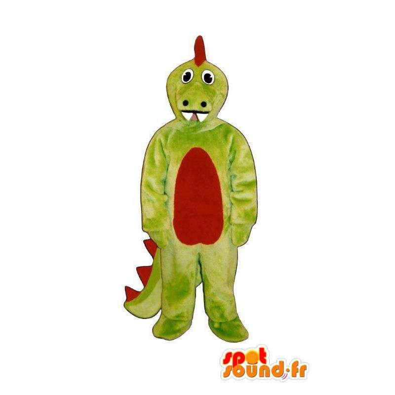 Green red dragon mascot - Disguise draagon - MASFR005021 - Dragon mascot