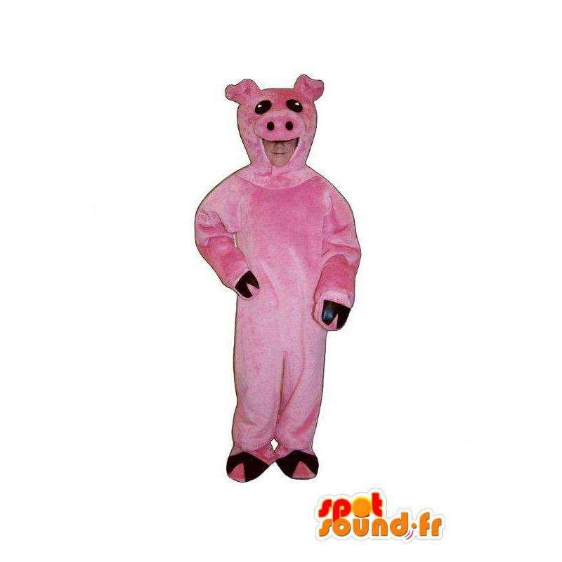 Schwein Maskottchen Plüsch pink - Standort & Anreise Schweinefleisch - MASFR005024 - Maskottchen Schwein