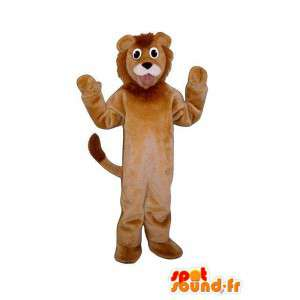 καφέ λιοντάρι μασκότ - εξοπλισμό του λιονταριού