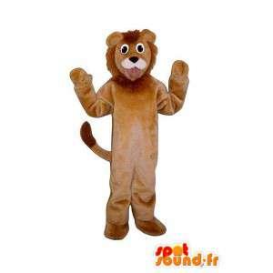Brown leone mascotte - un costume da leone