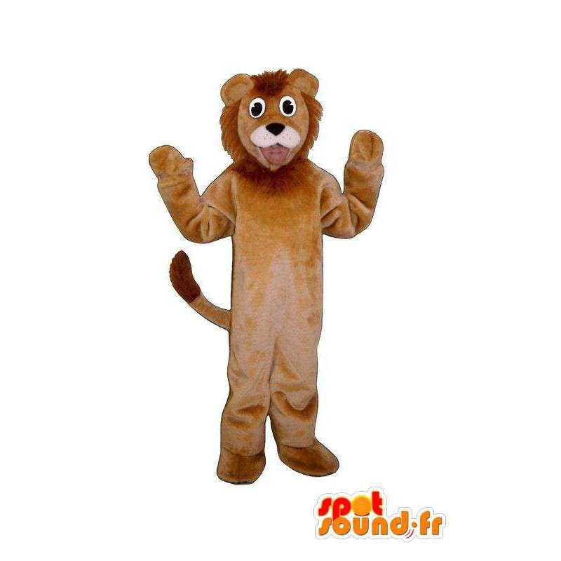 Brown Löwen-Maskottchen - Standort & Anreise Lion - MASFR005028 - Löwen-Maskottchen