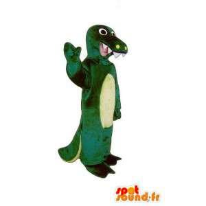 Mascot rettile verde e giallo - rettile costume