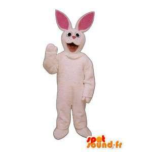 Mascot täytetyt pupu vaaleanpunainen. pupu puku - MASFR005032 - maskotti kanit