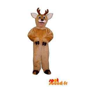Mascotte de chèvre marron en peluche - Déguisement chèvre