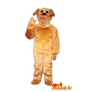 Brown dog mascot plush - dog outfit - MASFR005038 - Dog mascots
