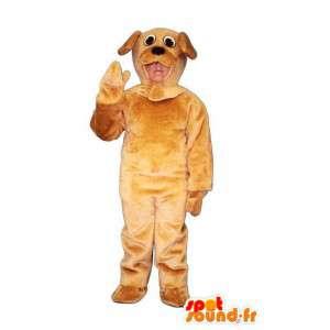Mascotte de chien marron en peluche - Accoutrement de chien - MASFR005038 - Mascottes de chien