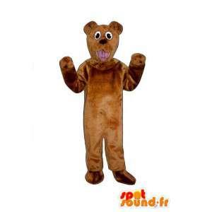 Brown Dog Mascot Pehmo - koira accoutrement - MASFR005039 - koira Maskotteja