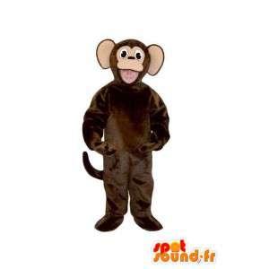 Disfraz marrón de peluche mono oscuro - avío mono